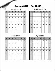 Four Month Printable Calendar | New Calendar Template Site