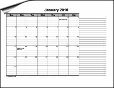 Lined Monthly Calendar   Calendar Template 2016