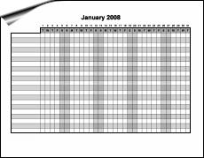 monthly work schedule calendar