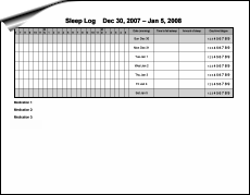 picture relating to Sleep Log Printable named - Be Respected: Produce it Down upon a